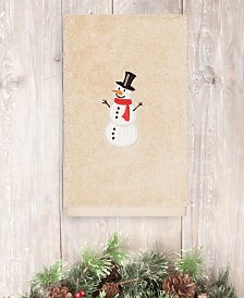 CLOSEOUT! Linum Home Snowman 100% Turkish Cotton Hand Towels