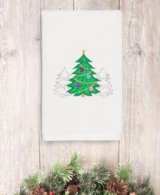 CLOSEOUT!  Christmas Three Trees 100% Turkish Cotton Hand Towel