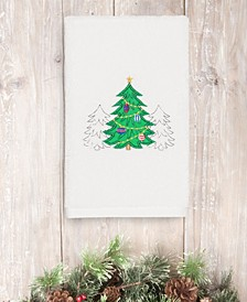 Christmas Three Trees 100% Turkish Cotton Hand Towel