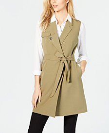 Nine West Notch-Collar Tie-Waist Vest