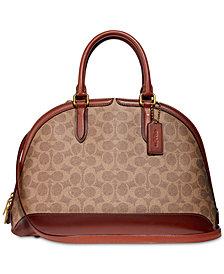COACH Coated Canvas Signature Quinn Satchel