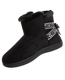 Isotoner Signature Microsuede Nora Boot Slippers with Memory Foam