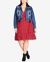 277514dbb7c City Chic Trendy Plus Size Removable Faux Fur Denim Jacket