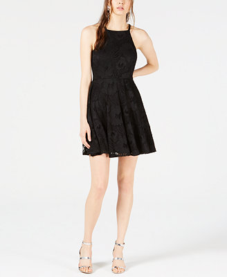 Lace Fit & Flare Dress, Created For Macy's by Bar Iii