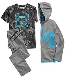 Big Boys Highlight Logo-Print Hoodie, T-Shirt & Fleece Pants