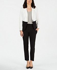 Colorblocked-Jacket Pantsuit