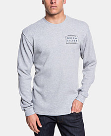 Quiksilver Men's Worldwide Thermal-Knit Logo Graphic T-Shirt