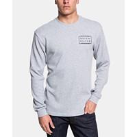 Deals on Quiksilver Mens Worldwide Thermal-Knit Logo Graphic T-Shirt