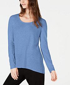 Eileen Fisher Cotton Long-Sleeve Top, Regular & Petite