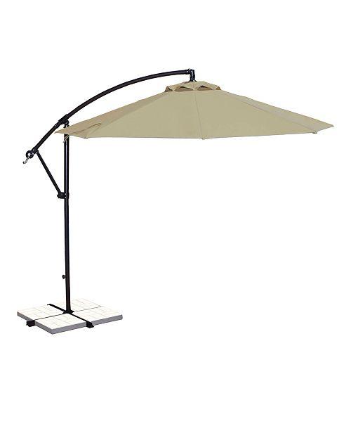Blue Wave Santiago 10-Ft Octagonal Cantilever Umbrella - Sunbrella Canopy