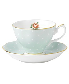 Old Country Roses Polka Rose Cup and Saucer