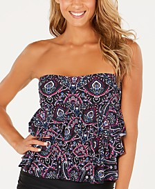 Island Escape Three-Tiered Tankini Top, Created for Macy's