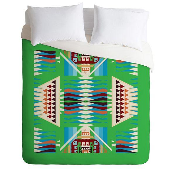 Deny Designs Holli Zollinger Acacia Verde King Duvet Set