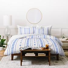 Deny Designs Holli Zollinger French Linen Boho Stripe Queen Duvet Set