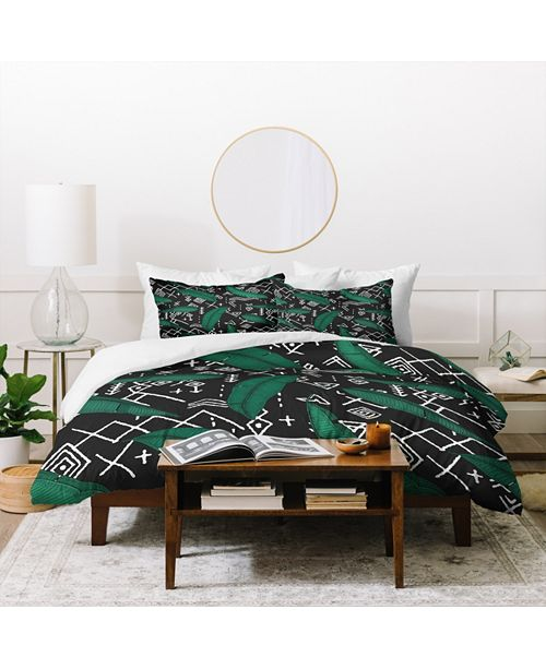 Deny Designs Holli Zollinger Orinoco Midnight Twin Duvet Set