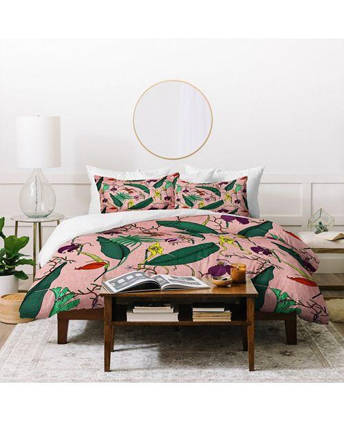 Deny Designs Holli Zollinger Orchid Garden Pink Twin Duvet Set