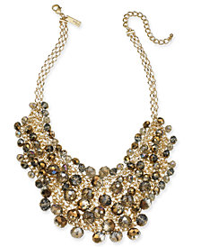 "I.N.C. Gold-Tone Shaky Bead 16"" Statement Necklace, Created for Macy's"