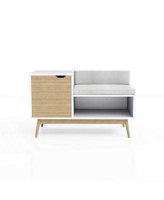 Jamesdar Blythe Sectional Storage Bench Furniture Macys