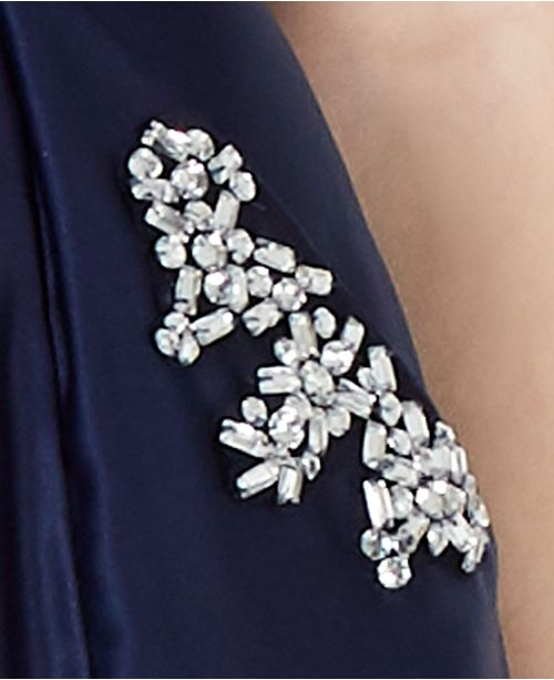 5030fe4c5 Blondie Nites Juniors' Strapless Pocket-Detail Gown & Reviews ...