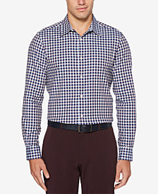 Perry Ellis Men's Herringbone Gingham Shirt