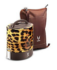 Vaya Tyffyn 1000 Cheetah Lunch Box with Bagmat - 33.5 oz