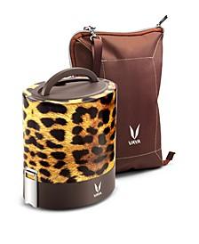 Vaya Tyffyn 1000 Cheetah Lunch Box with Bagmat - 33.5 oz