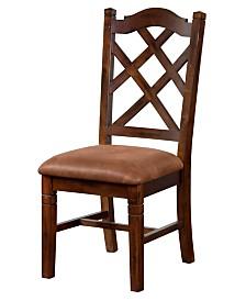 Santa Fe Dark Chocolate Double Crossback Chair, Cushion Seat