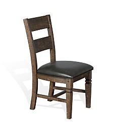 Homestead Tobacco Leaf Ladderback Chair, Cushion Seat