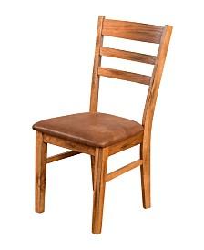 Sedona Rustic Oak Ladderback Chair, Cushion Seat