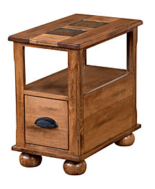 "Sedona 25""H Rustic Oak Chair Side Table"