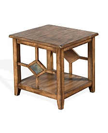 Coventry Burnish Mocha End Table