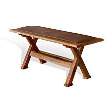 Sedona Rustic Oak Side Bench, Cushion Seat