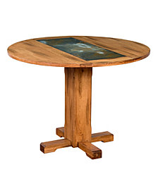 Sedona Rustic Oak Drop Leaf Table