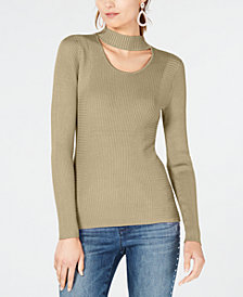 I.N.C. Cutout Turtleneck Sweater, Created for Macy's