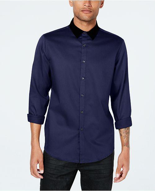 36f291329845e5 ... INC International Concepts INC Men s Velvet Collar Shirt