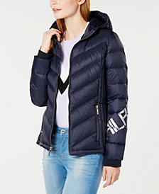 Tommy Hilfiger Logo-Sleeve Puffer Jacket, Created for Macy's
