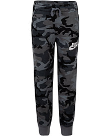 Nike Little Boys Camo-Print Fleece Jogger Pants