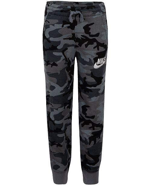 e9acc7569d941 Nike Little Boys Camo-Print Fleece Jogger Pants & Reviews - Pants ...