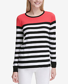 Calvin Klein Colorblocked Striped Sweater