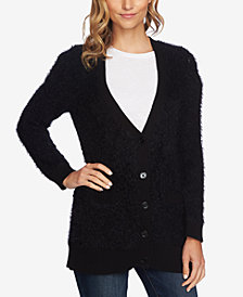CeCe Eyelash V-Neck Cardigan