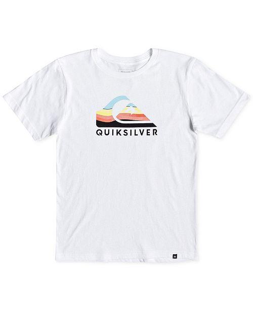 0ff7dd1744 Quiksilver Big Boys Logo-Print Cotton T-Shirt & Reviews - Shirts ...