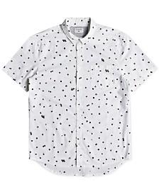 Quiksilver Men's Cherry Pop Modern-Fit Floral-Print Poplin Shirt