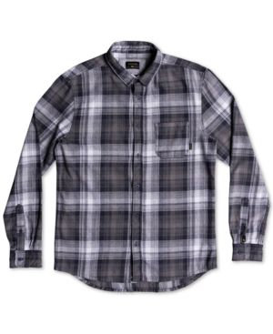QUIKSILVER Men'S Fatherfly Plaid Shirt in Blue Night Fatherfly Check