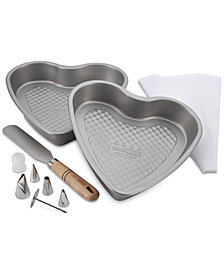 Cake Boss 10-Pc. Heart Bakeware Set
