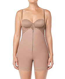Strapless Lacy Firm Compression Bodysuit Shaper Short with Butt Lifter