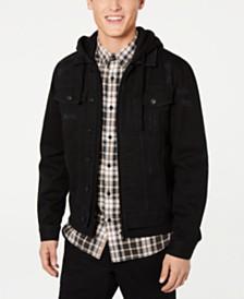 American Rag Mens Hooded Denim Trucker Jacket, Created for Macy's