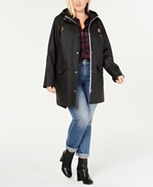 Levi's® Trendy Plus Size  Coated Hooded Parka Jacket
