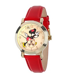 Disney Minnie Mouse Women's Gold Vintage Alloy Watch
