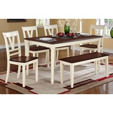 Dual Tone Wooden Bench In Cherry