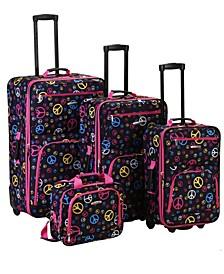 4PCE Peace Softside Luggage Set
